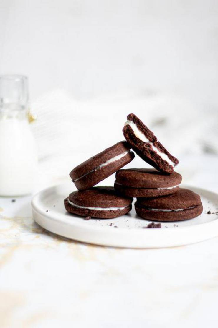 Best Keto Oreo Cookies Low Carb Keto Cookie Idea Quick Easy Ketogenic Diet Recipe Completely Keto Friendly Gluten Free Sugar Free
