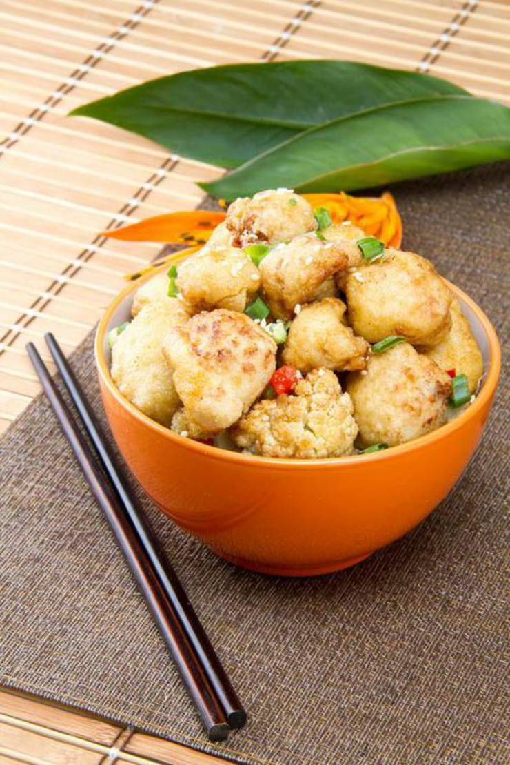 Easy Keto Cauliflower General Tso Low Carb General Tso Idea Quick Healthy Best Chinese Food Recipe Ketogenic Diet