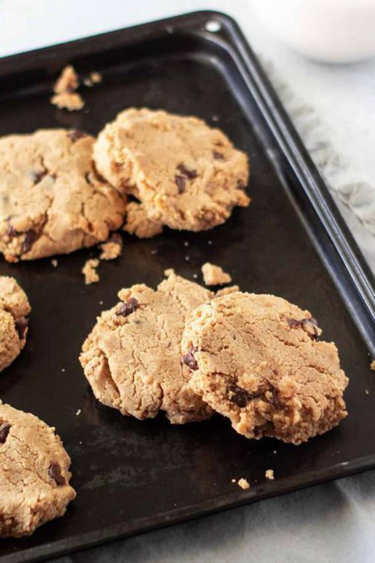 Keto Cookies Best Low Carb Peanut Butter Chocolate Chip Cookie Idea Quick Easy Ketogenic Diet Recipe Completely Keto Friendly