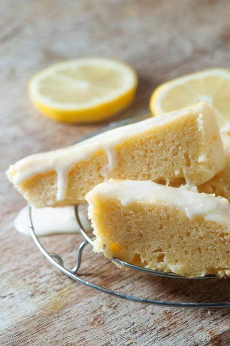 Keto Lemon Bread | Super Yummy Low Carb Copycat Starbucks Lemon Loaf Recipe | Glaze Pound Cake For Ketogenic Diet