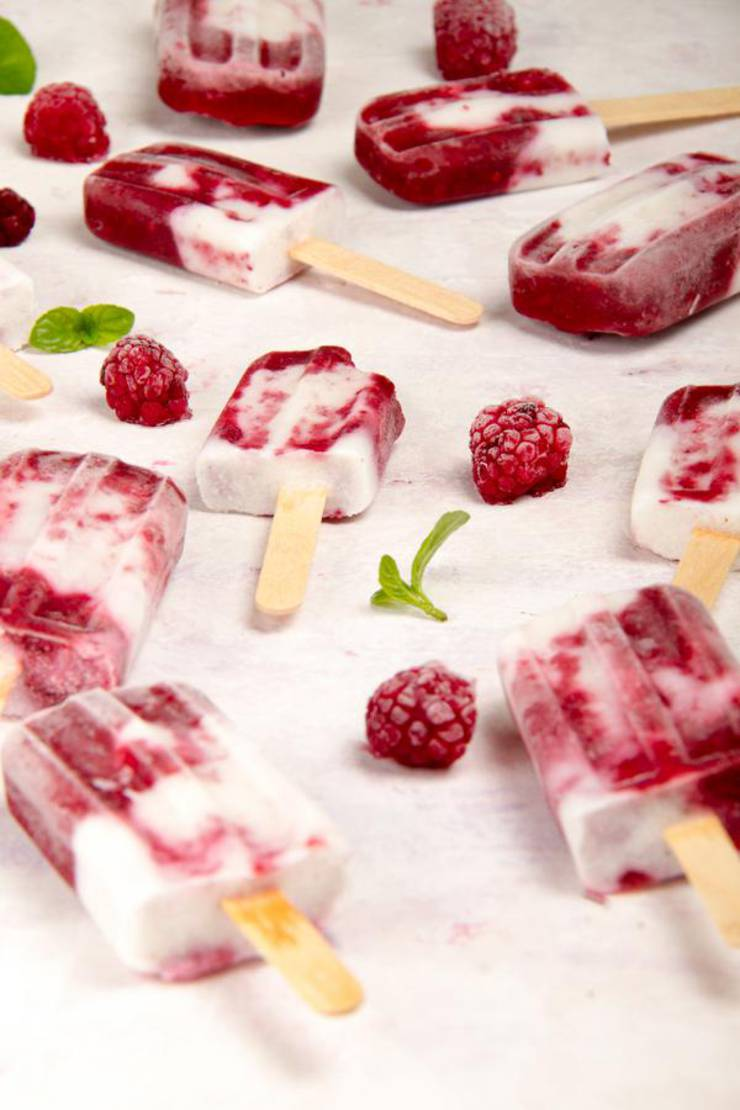3 Ingredient Keto Raspberry Creamsicle Popsicles – BEST Keto Vegan Raspberries and Cream – {Easy – NO Bake} NO Sugar Low Carb Recipe