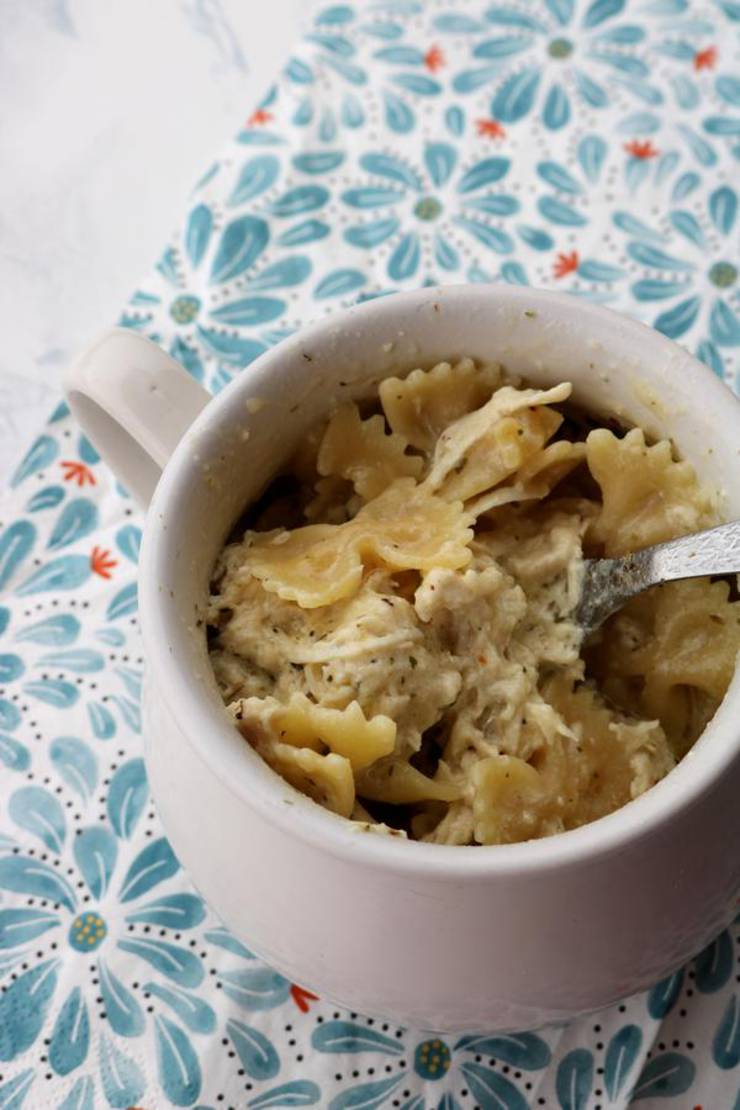 Weight Watchers Microwave Pasta! Best Weight Watchers Bowtie Pasta Chicken Carbonara - Microwave Recipes In A Mug For One – Easy - Simple - Tasty Food