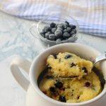 Weight Watchers Mug Cakes – BEST WW Recipe – Microwave Lemon Blueberry Mug Cake – Treat – Dessert – Snack with Smart Points