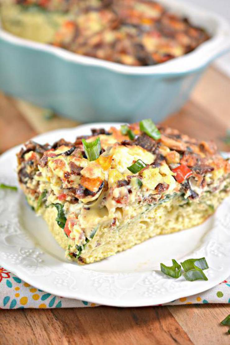 Keto Breakfast Casserole Best Low Carb Keto Bacon Cheese Egg Casserole Idea Quick Easy Ketogenic Diet Recipe Completely Keto Friendly