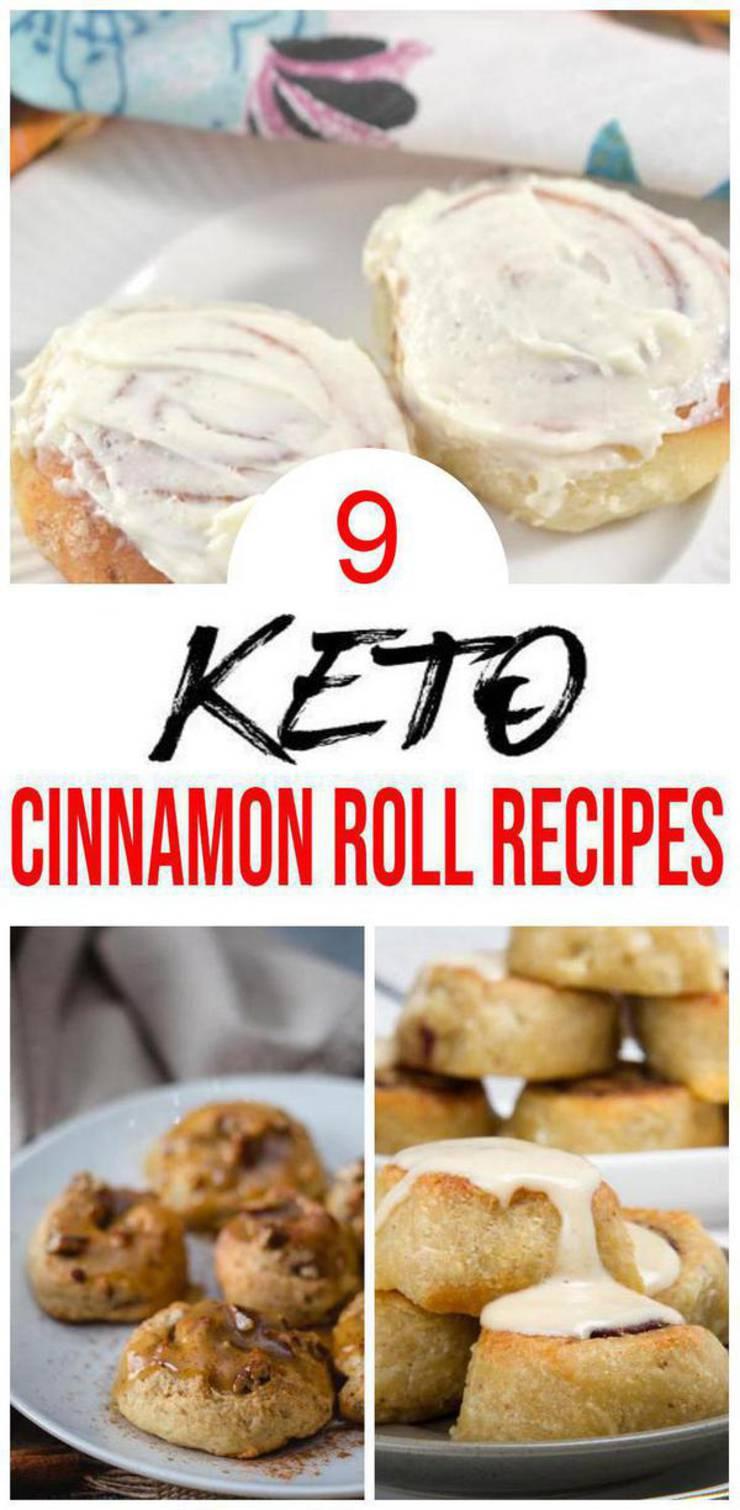 9 Keto Cinnamon Roll Recipes – BEST Low Carb Keto Cinnamon Roll Ideas – Easy Ketogenic Diet Ideas - Breakfast - Desserts - Snacks