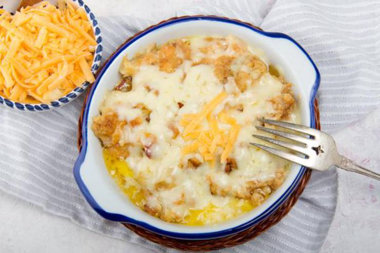 EASY Keto Cauliflower Casserole! Low Carb Bacon & Cheese Casserole Idea – Quick – Healthy – Baked Ketogenic Diet Recipe – Completely Keto Friendly