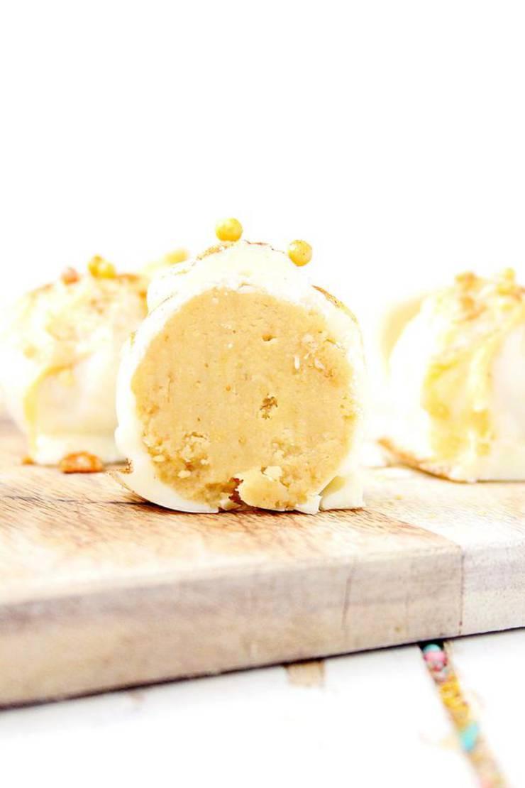 Keto Fat Bombs - BEST White Chocolate Pumpkin Spice Fat Bomb Truffles - Easy NO Sugar Low Carb Recipe