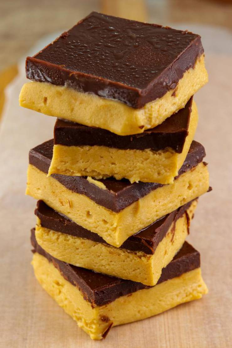 4 Ingredient Weight Watchers Peanut Butter Chocolate Bars – Best NO BAKE WW Recipe – Dessert – Treat – Snack with Smart Points