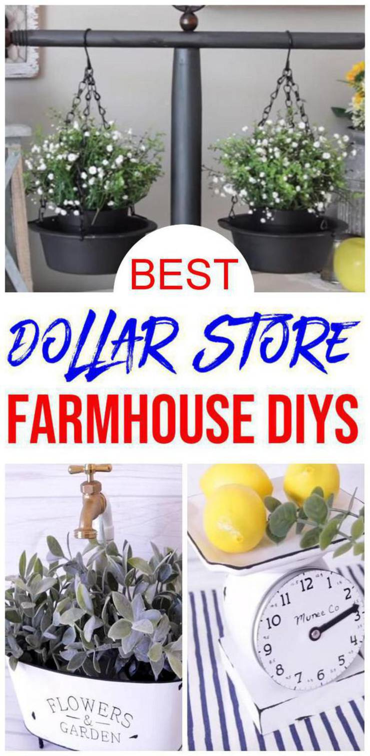 Farmhouse Decor Diy Dollar Store Farmhouse Decor Ideas Hacks Home Decor On A Budget