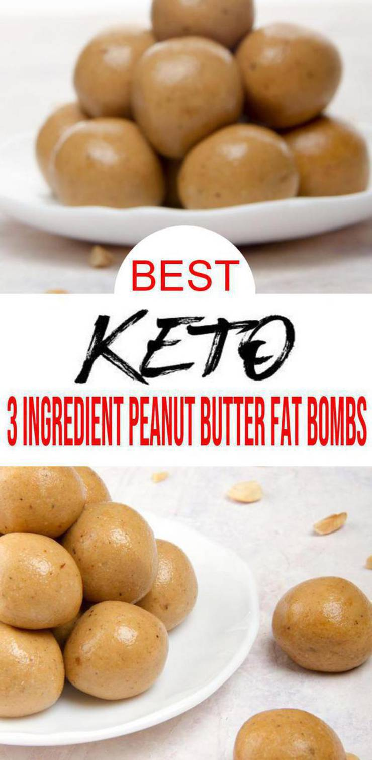 Keto Fat Bombs - 3 Ingredient keto recipes for the BEST low carb peanut butter fat bombs. Low carb desserts, keto snacks or mini little sweet treats everyone will love. Great keto beginners recipe to add to your keto meal plan. Ketogenic diet fat bombs that are creamy, tasty & delish. Homemade peanut butter fat bombs to make today! CHECK OUT these keto fat bombs :) #peanutbutter #easyrecipe