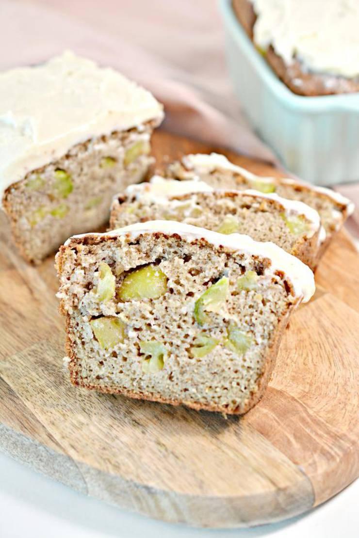 Keto Low Carb Caramel Apple Loaf Bread