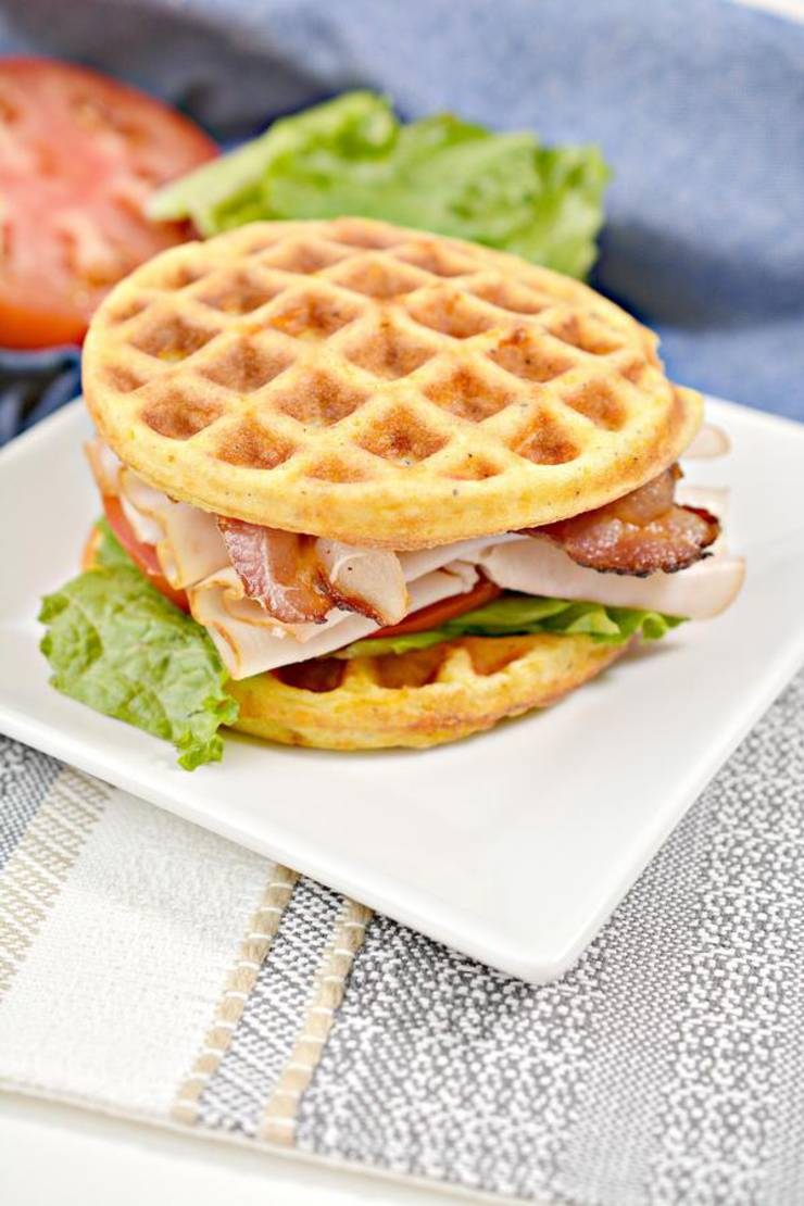 BEST Keto Chaffles! Low Carb Chaffle Idea – Homemade - Quick & Easy Ketogenic Diet Recipe – Completely Keto Friendly - Sandwich BLT Chaffle