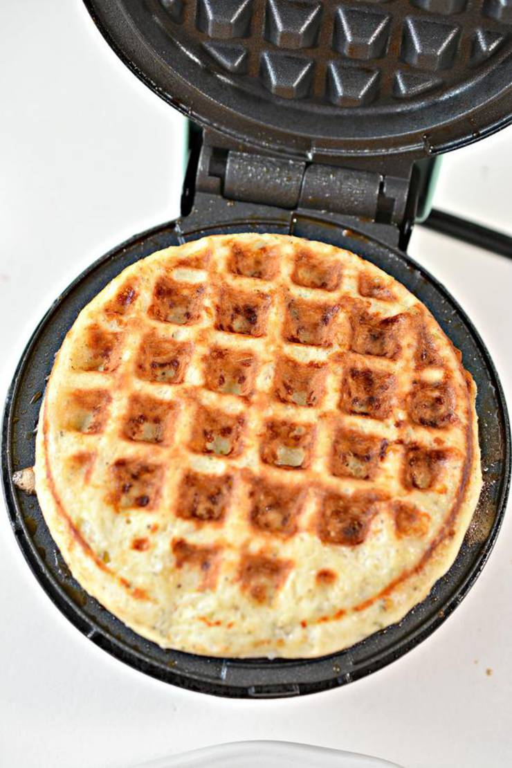 Keto Chaffle Italian Garlic And Herb