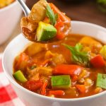 BEST Keto Soup! Low Carb Keto Chicken Enchilada Soup Idea – Quick & Easy Ketogenic Diet Recipe – Completely Keto Friendly - Mexican Food Dinner Idea