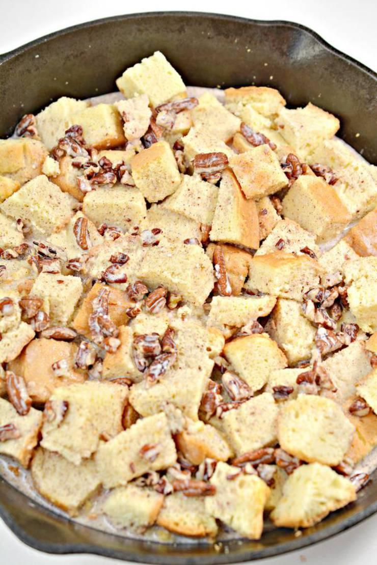 Keto Cinnamon Pecan Bread Pudding