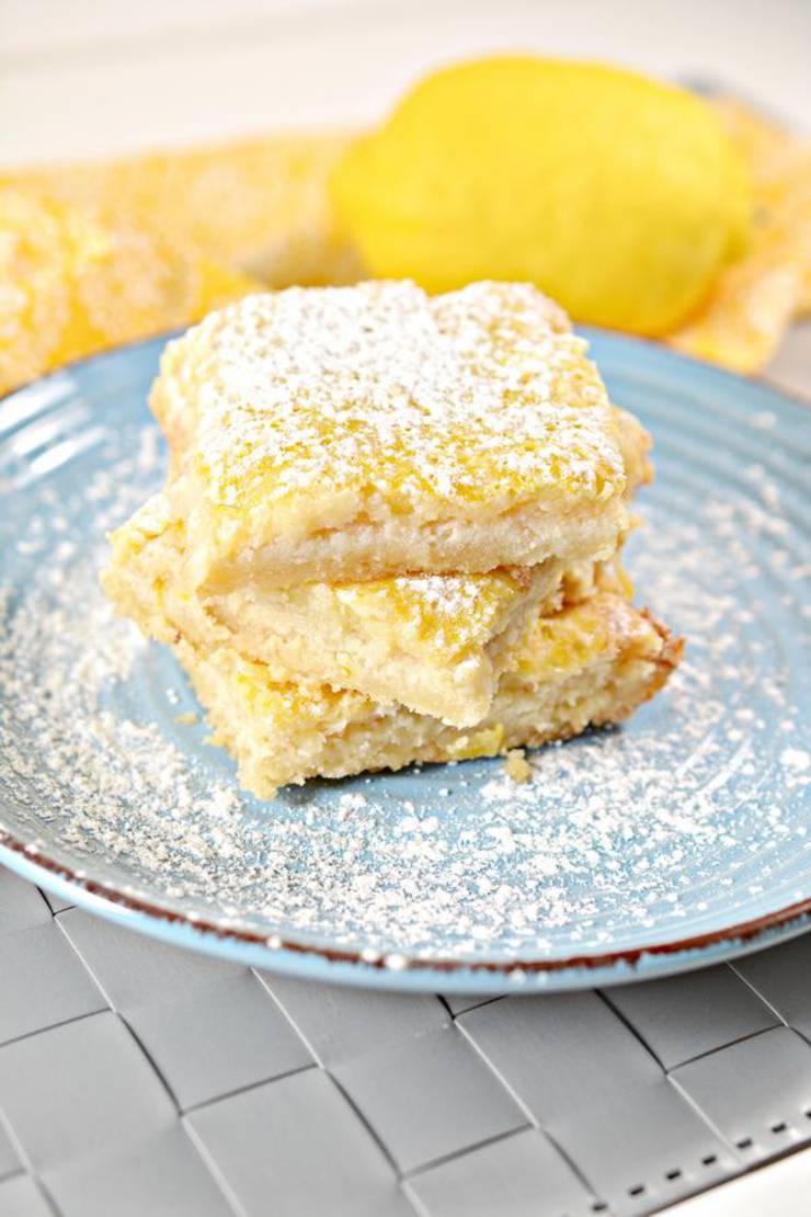 Keto Lemon Bars - Super Yummy Low Carb Lemon Bar Recipe - Best Keto Food Recipe For Ketogenic Diet