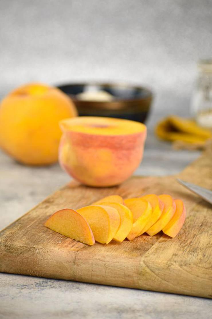 Keto Peach Cobbler