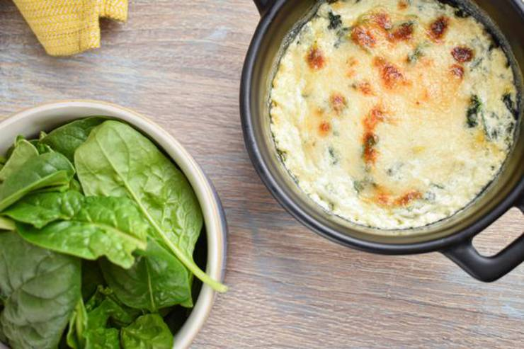 Keto Spinach Dip - EASY Low Carb Keto Baked Spinach Dip Recipe - BEST Snack or Parties Dip Idea