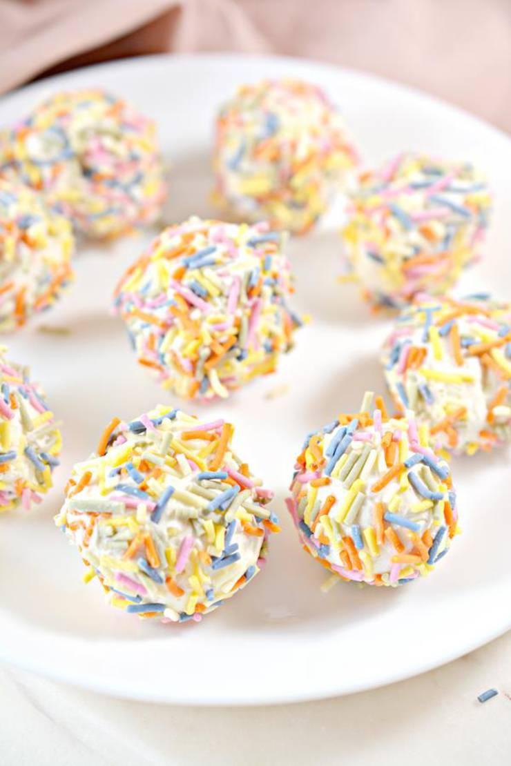 5 Ingredient Keto Sprinkle Fat Bombs – BEST Sprinkle Cream Cheese Fat Bombs – NO Bake – Easy NO Sugar Low Carb Recipe