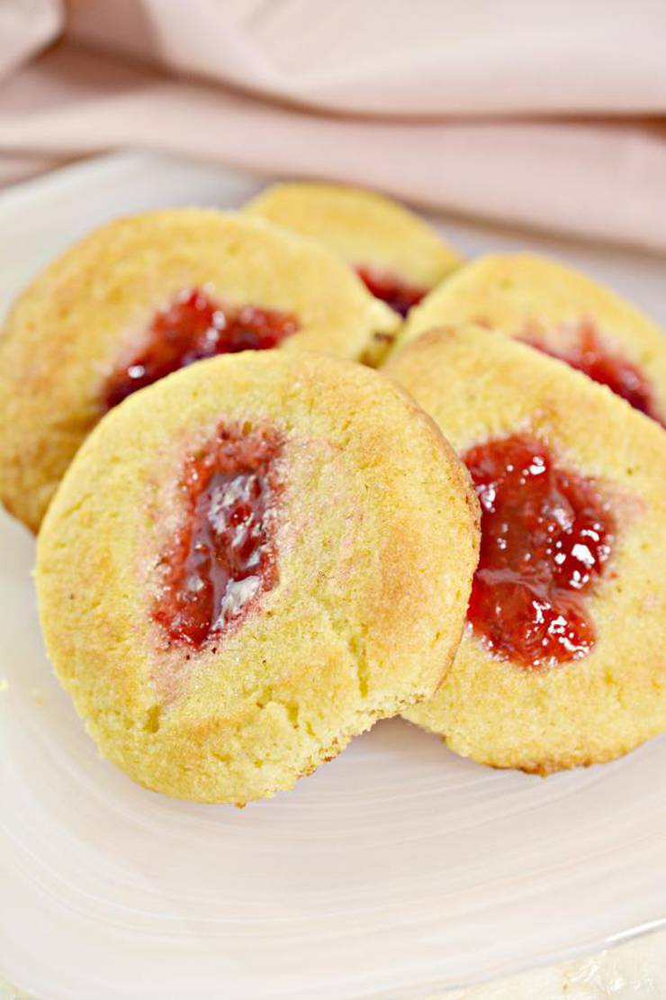 BEST Keto Cookies! Low Carb Keto Strawberry Thumbprint Cookie Idea – Sugar Free – Quick & Easy Ketogenic Diet Recipe – Completely Keto Friendly