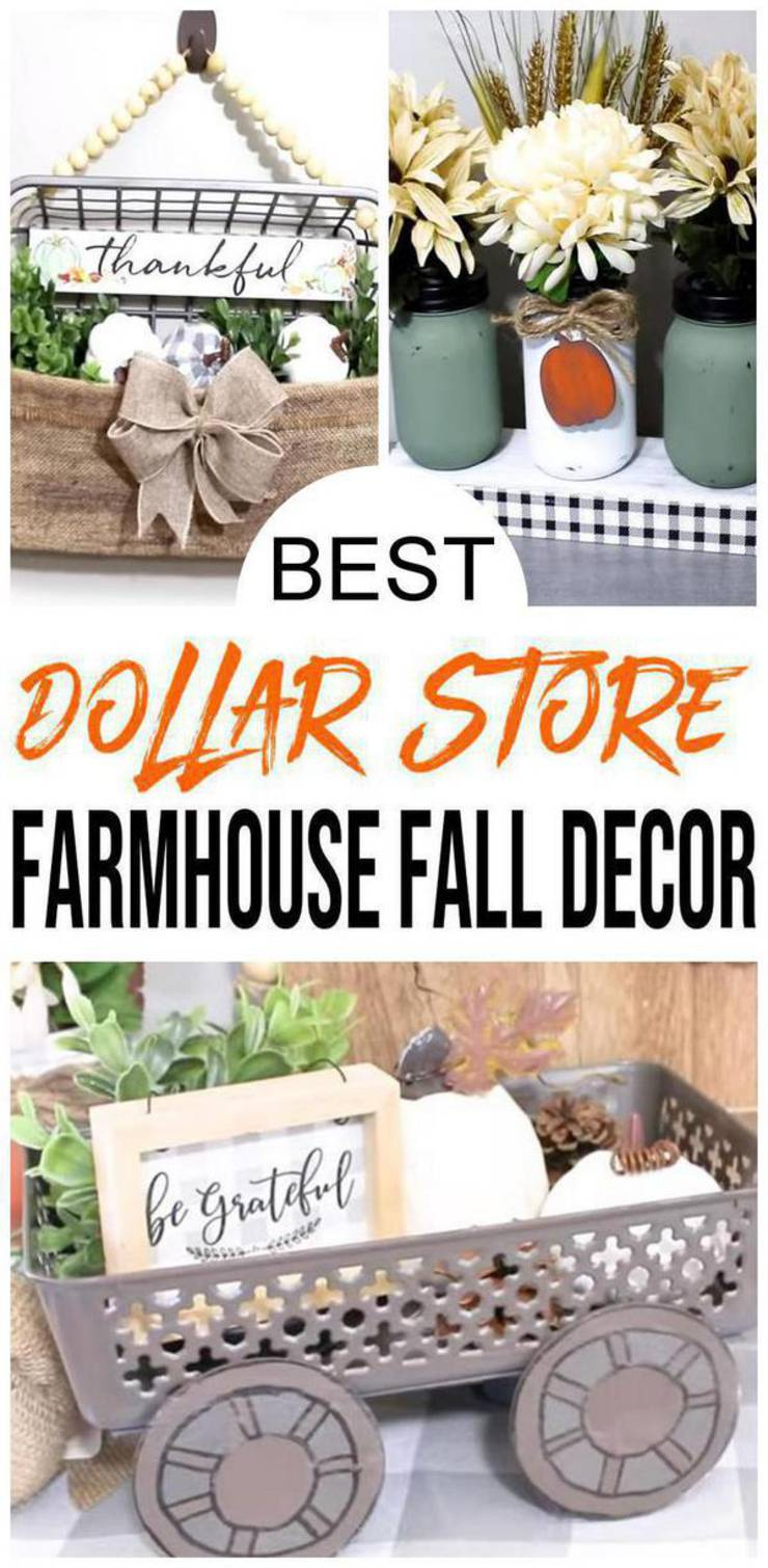 Farmhouse Fall Decor – DIY Dollar Store Farmhouse Decoration Ideas & Hacks – Fall Home Decor On A Budget
