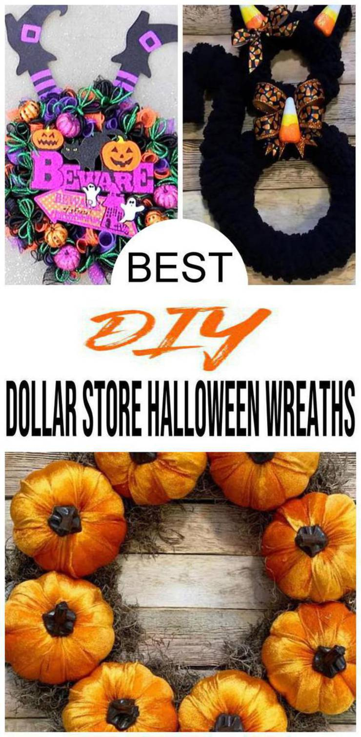 BEST Dollar Store Halloween Wreath! DIY Fall Wreath Ideas – Learn How To Make Wreaths To Make Your Front Door Look Amazing – Dollar Store Hacks – Homemade Halloween Decor