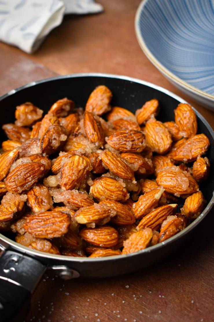 BEST Keto Almonds! Low Carb Keto Caramel Coated Almond Idea – Sugar Free – Quick & Easy Ketogenic Diet Recipe – Candied Almonds