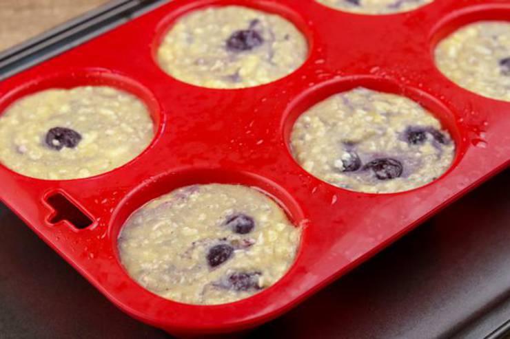 Keto Chaffle Muffins Blueberry
