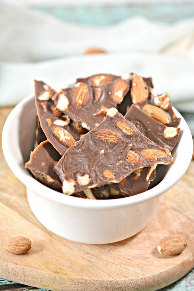 Keto Candy! BEST Low Carb Keto Chocolate Almond Bark Idea – Quick & Easy Ketogenic Diet Recipe – Completely Keto Friendly – Gluten Free – Sugar Free