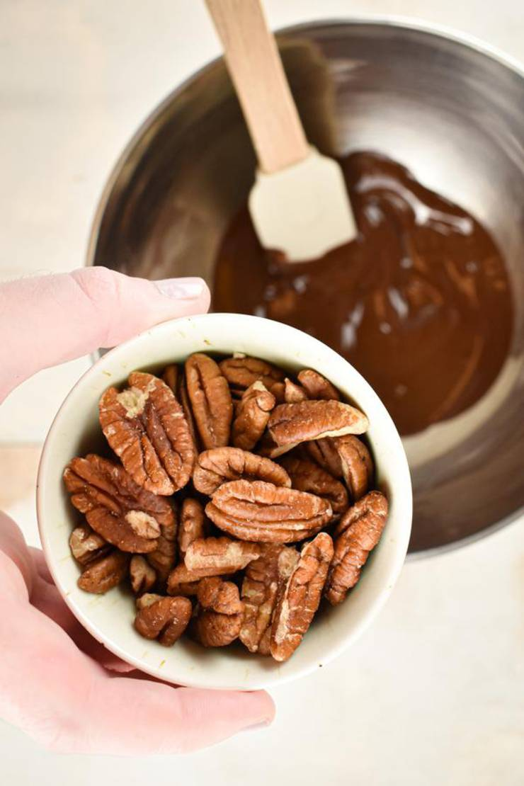 Keto Chocolate Covered Pecans