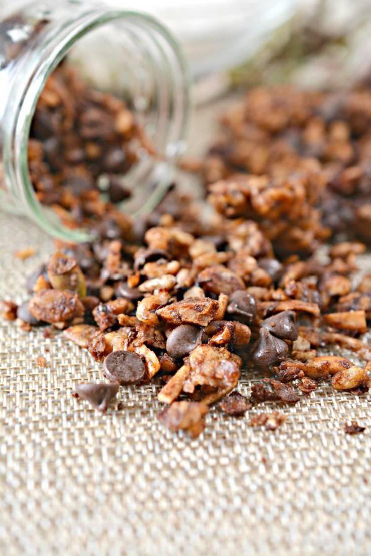 BEST Keto Granola! Low Carb Keto Chocolate Granola Idea – Quick & Easy Ketogenic Diet Recipe – Completely Keto Friendly