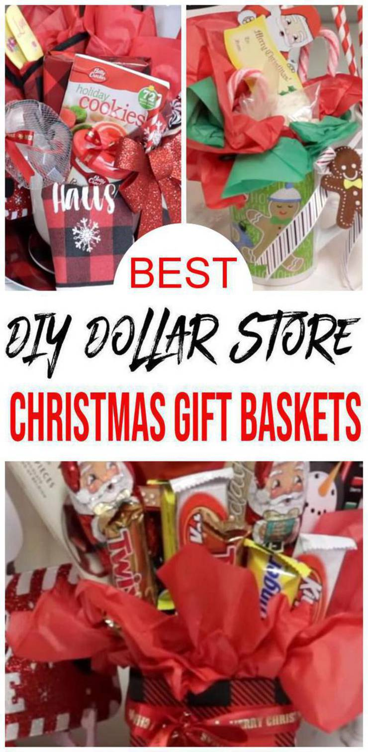 Best Dollar Tree Christmas Gift Baskets Easy Diy Dollar Store Christmas Gift Basket Ideas For Family Friends Couples Kids Co Workers Teachers Men Women Cheap Creative Holiday Ideas
