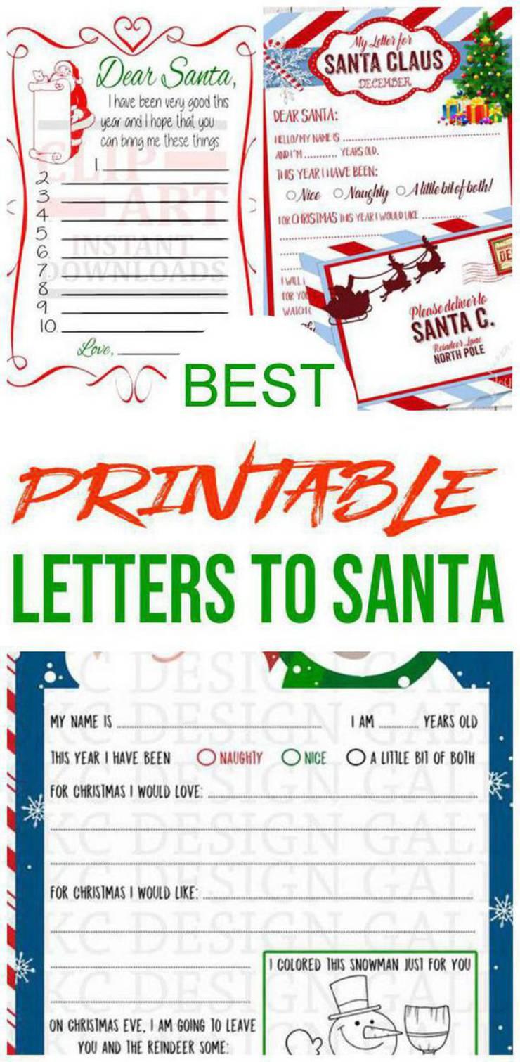 BEST Santa Letters - Printable Letters To Santa For Kids - Dear Santa Letters Children Will Love - Letters - Envelopes - Kits
