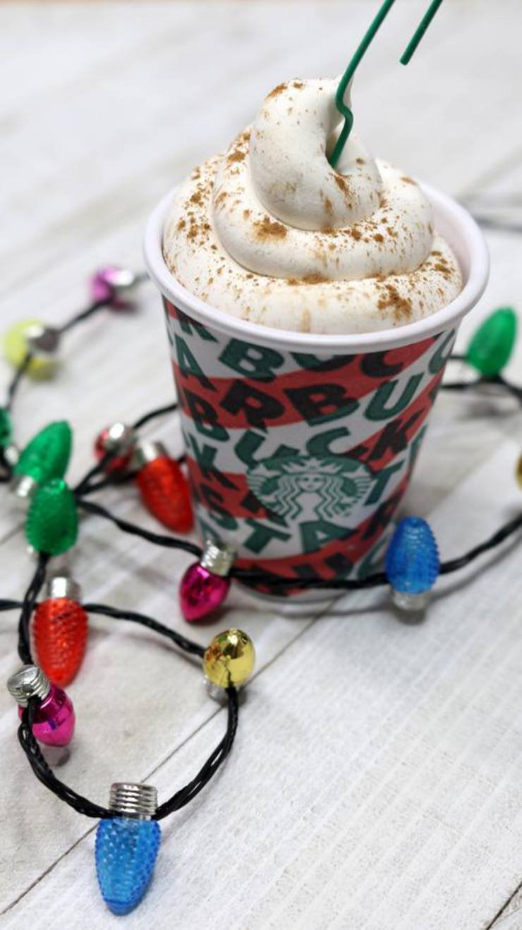 DIY Christmas Tree Ornaments - Easy Handmade Christmas Tree Decorations - Cheap Starbucks Christmas Cups Idea - How To Make
