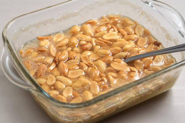 Keto Microwave Peanut Brittle