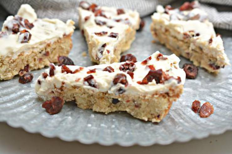 Keto Starbucks Copycat Cranberry Bliss Bars