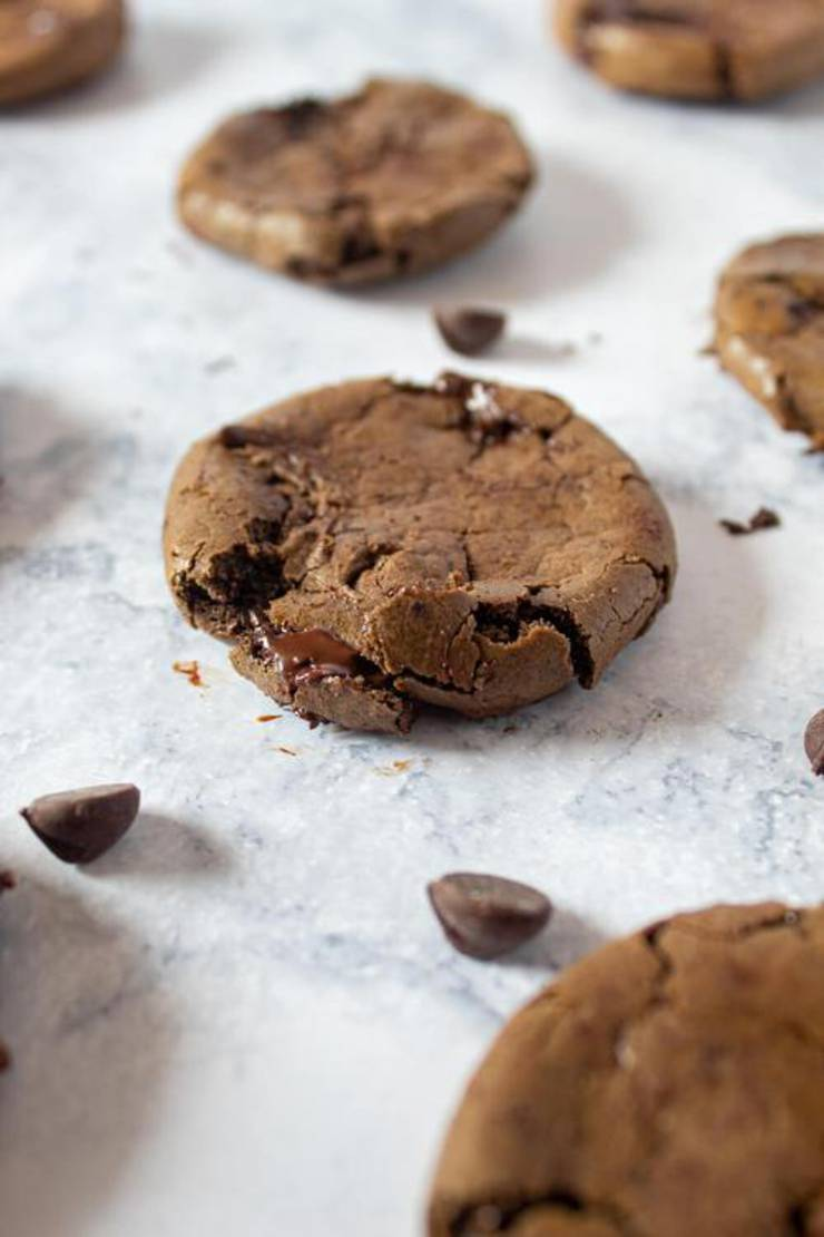 Ultimate Keto Double Chocolate Chip Cookies