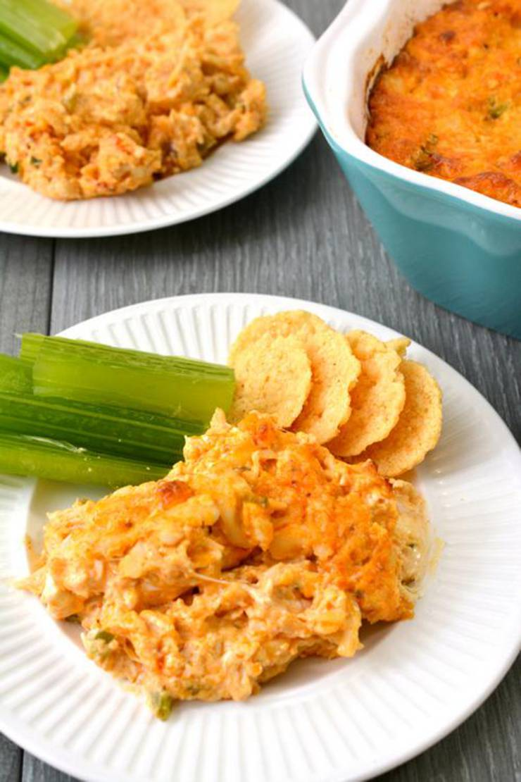 Keto Ranch And Shredded Chicken Buffalo Dip