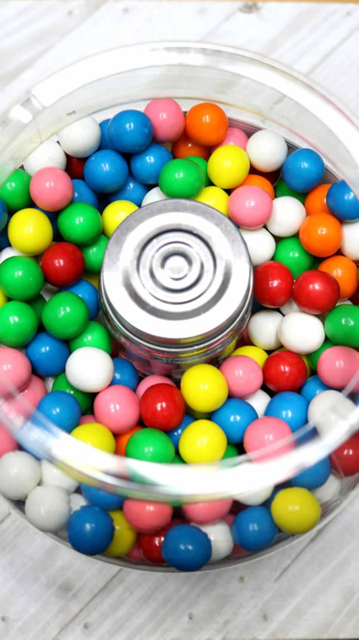 DIY Hidden Money Gift Jar Idea - Edible Candy Gumball Presents With Hidden Surprise