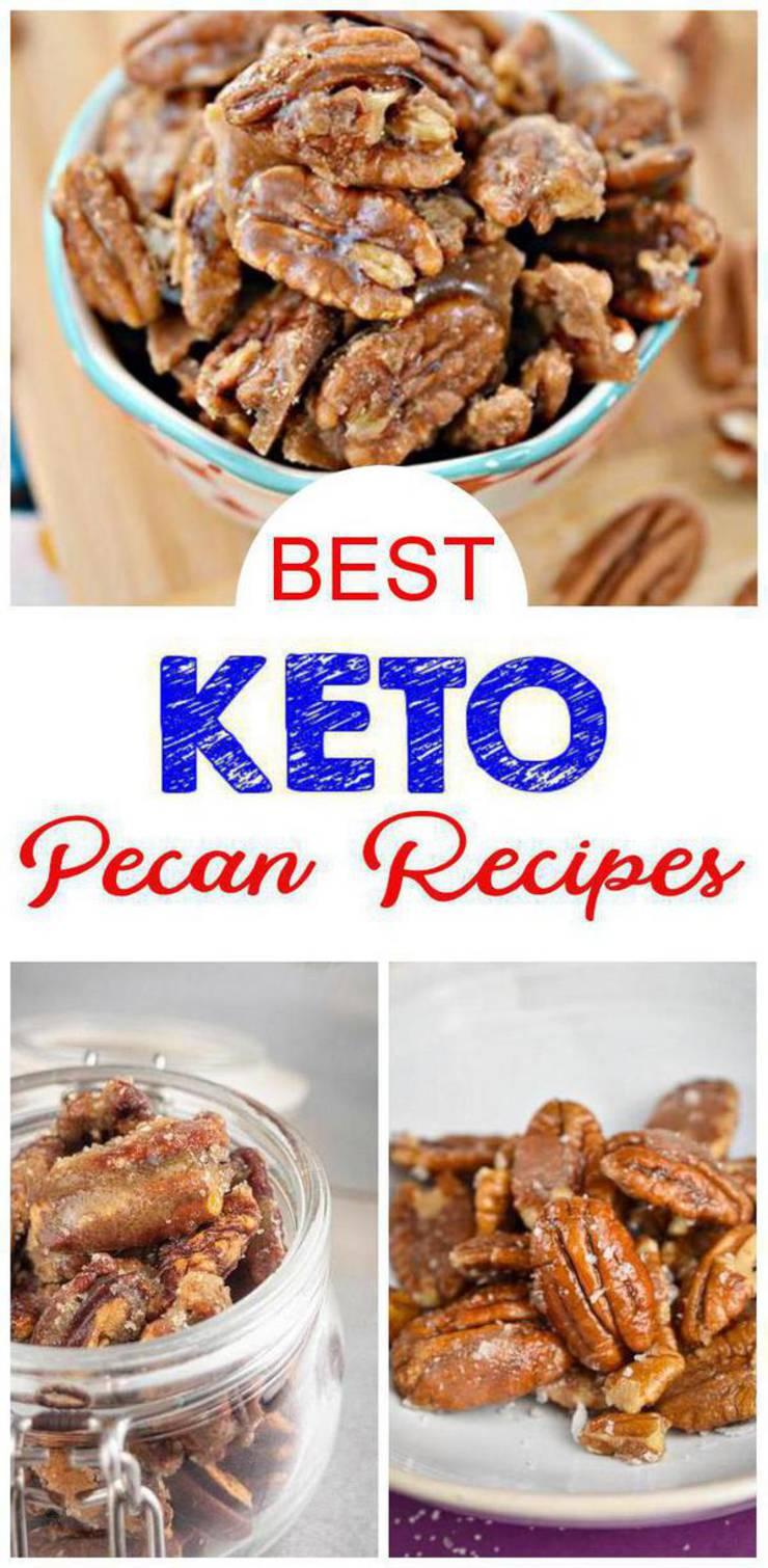 15 Keto Pecan Recipes – BEST Keto Low Carb Pecan Ideas – Easy Ketogenic Diet Ideas - Candied - Cookies - Fat Bombs