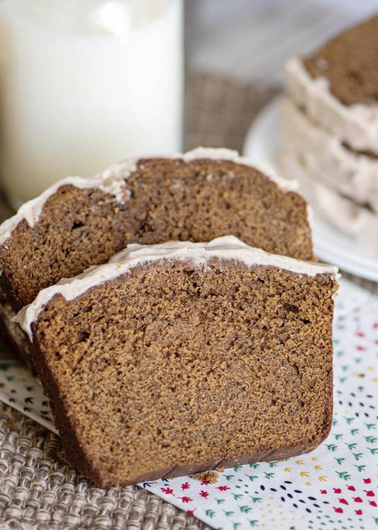BEST Gingerbread Loaf - Easy Gingerbread Loaf Bread Recipe - Moist Delicious Gingerbread Cake - Christmas Recipe - Desserts - Breakfast