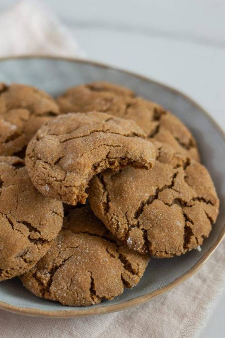 Gluten-Free Soft And Chewy Molasses Cookies
