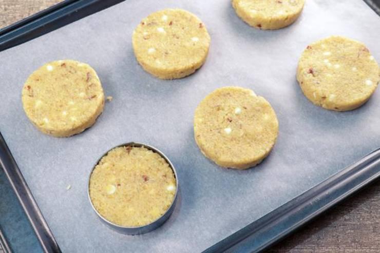Keto Caramel Pecan White Chocolate Chip Cookies
