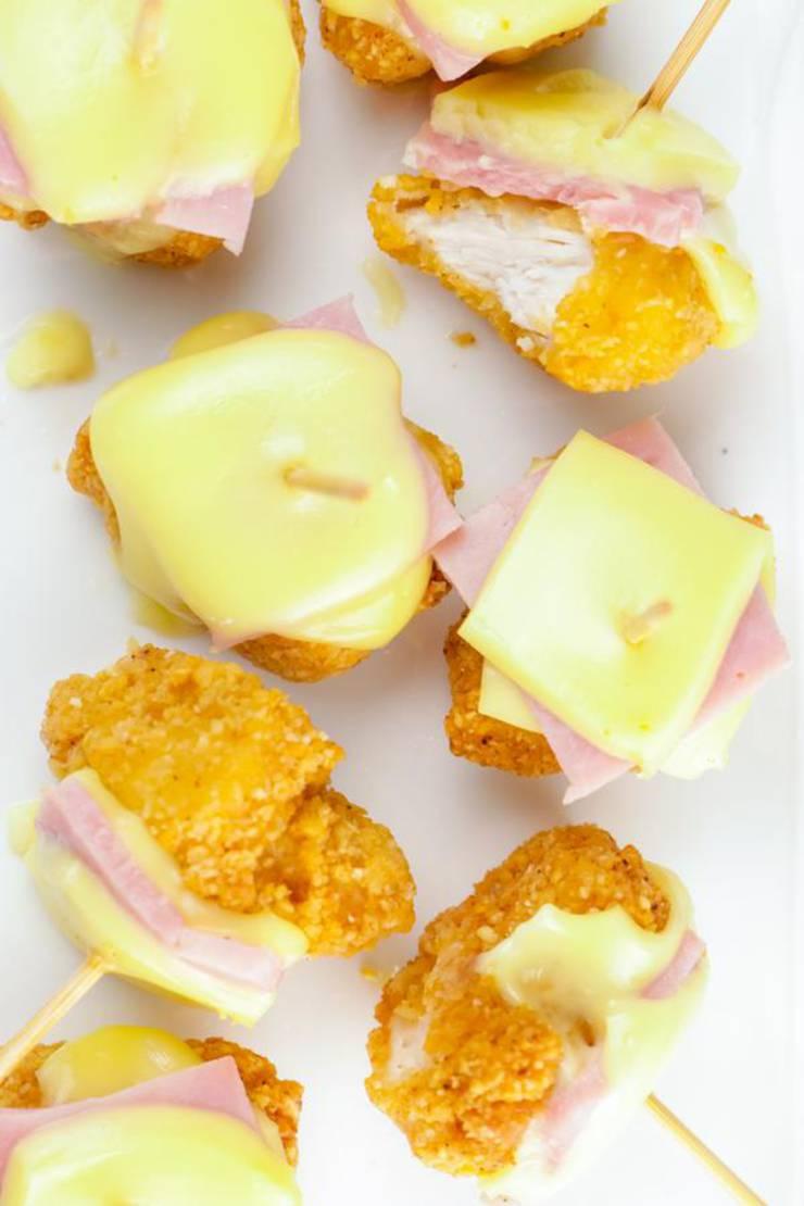 BEST Keto Chicken Cordon Bleu Bites – EASY Low Carb Chicken Cordon Bleu Recipe – Tasty Keto Appetizers – Snacks - Dinner – Party Finger Foods