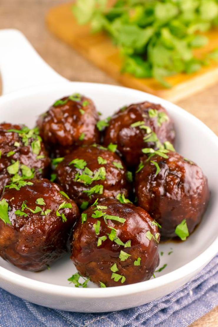 BEST Keto Meatballs - EASY Low Carb Cranberry Meatball Recipe - Tasty Keto Appetizers - Dinner - Party Finger Foods - Beef BBQ Cranberry Glaze Meatballs