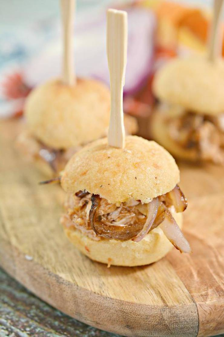 BEST Keto Chicken Sliders – EASY Low Carb Keto Mini BBQ Chicken Sliders Recipe – Tasty Keto Appetizers – Dinner – Party Finger Foods