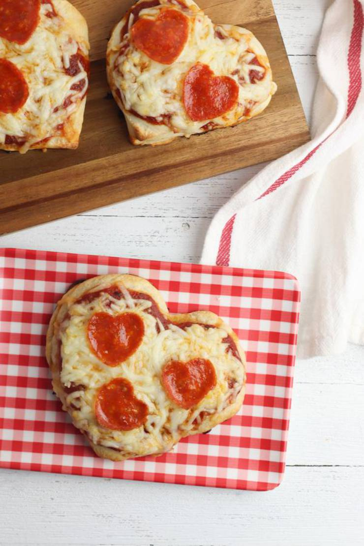 Kids Party Food! BEST Heart Pizza Recipe – 4 Ingredient - Easy – Cheap Ideas