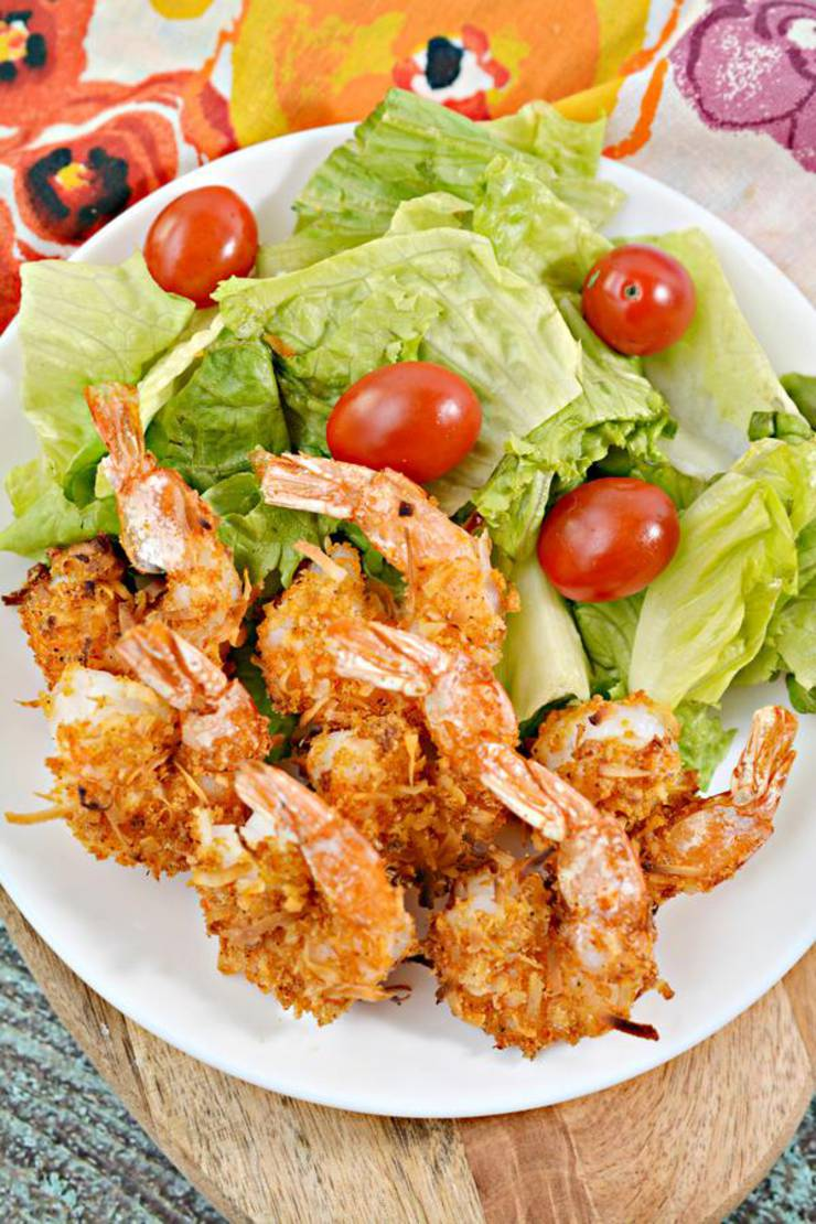 Keto Shrimp! Low Carb Air Fryer Coconut Shrimp – Ketogenic Diet Recipe – Appetizer – Side Dish – Completely Keto Friendly