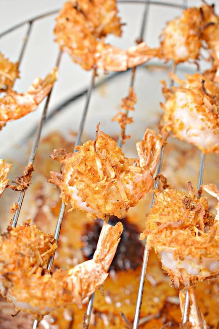 Keto Air Fryer Coconut Shrimp