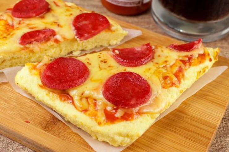 BEST Keto Pizza Bread – Low Carb Keto Air Fryer Pizza Recipe – 90 Second Microwave Bread For Easy Ketogenic Diet Pizza Crust